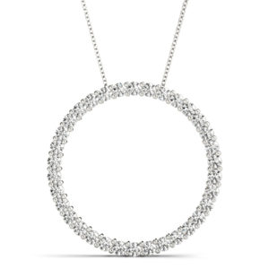 14 Kw Round Simple Diamond Pendant 2.00 CT TW