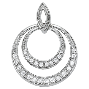 14Kw Round 2 In 1 Diamond Pendant 0.38 CT TW