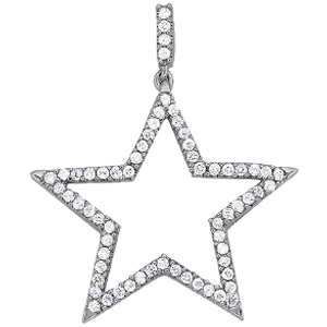 14Kw Diamond Star Pendant 0.50 CT TW