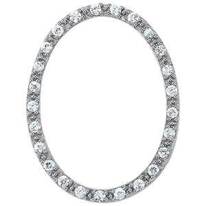 14Kw Oval  Diamond Pendant 0.25 CT TW