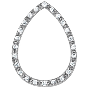 14Kw Pair Shape Diamond Pendant 0.25 CT TW
