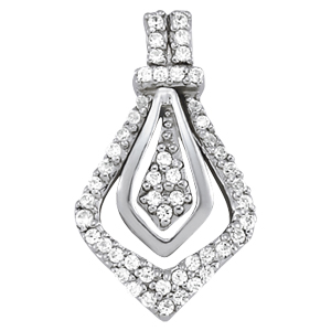 14Kw Diamond Fashion Pendant 0.25 CT TW