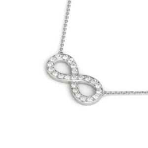 14Kw Infinity Symbol Diamond Pendant 0.33 CT TW