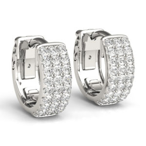 14 Kw Flat Hoop Diamond Earrings 0.50 CT TW