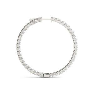 14Kw Circular Diamond Hoop Earrings 6.00 CT TW