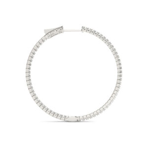14Kw Circular Diamond In & Out Hoop Earrings 1.00 CT TW