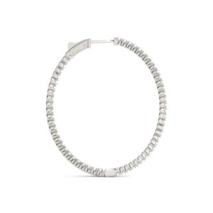 14Kw Circular Diamond Hoop Earrings 5.00 CT TW