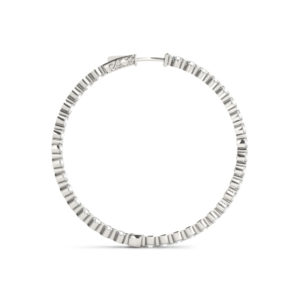 14Kw Circular Diamond Hoop Earrings 9.75 CT TW