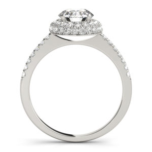 14Kw Halo Engagement Diamond Ring Wedding Set 1.70 CT TW