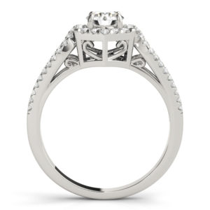 14Kw Halo Engagement Diamond Ring Wedding Set 1.50 CT TW