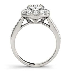 14Kw Halo Engagement Diamond Ring Wedding Set 2.00 CT TW