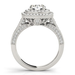 14Kw Halo Engagement Diamond Ring Wedding Set 1.98 CT TW