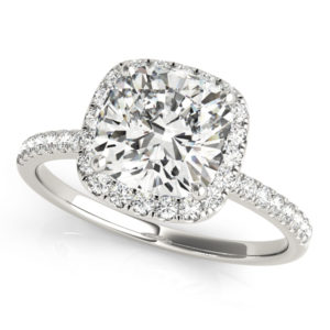 14Kw Halo Engagement Diamond Ring Wedding Set 0.75 CT TW