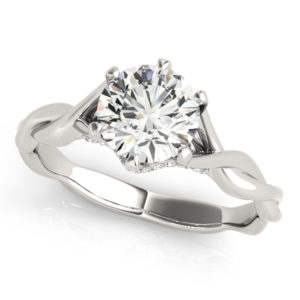 14Kw Engagement Diamond Ring Wedding Set 1.06 CT TW