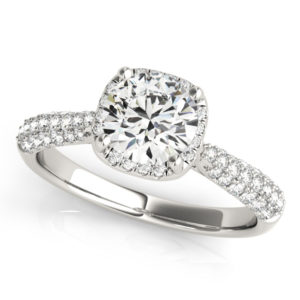 14Kw Halo Engagement Diamond Ring Wedding Ring 1.33 CT TW