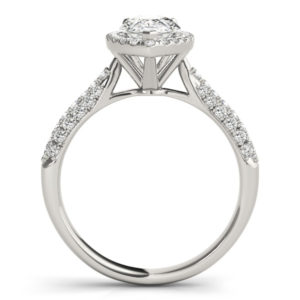 14Kw Halo Engagement Diamond Ring Wedding Ring 1.38 CT TW