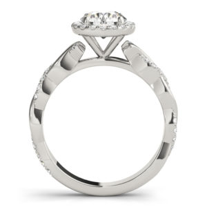 14Kw Halo Engagement Diamond Ring Wedding Ring 1.25 CT TW