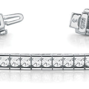 14Kw Interlocking Diamond Tennis Bracelet 2.50 CT TW