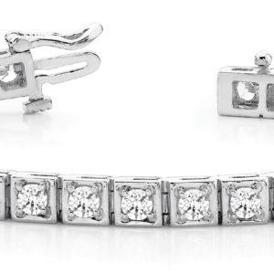 14Kw Interlocking Diamond Tennis Bracelet 3.75 CT TW
