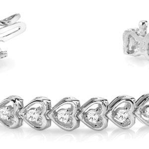 14Kw Interlocking Diamond Tennis Bracelet 2.00 CT TW