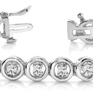 14Kw Interlocking Diamond Tennis Bracelet 0.75 CT TW