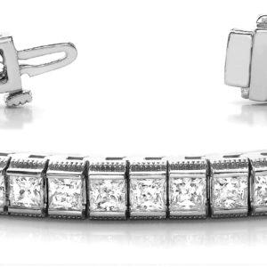14Kw Interlocking Diamond Tennis Bracelet 3.50 CT TW