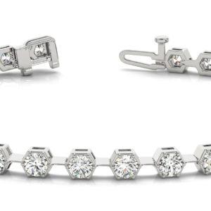 14Kw Interlocking Diamond Tennis Bracelet 1.62 CT TW