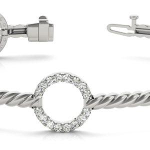 14Kw Interlocking Diamond Bracelet 1.12 CT TW