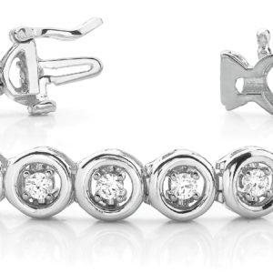 14Kw Interlocking Diamond Tennis Bracelet 2.62 CT TW
