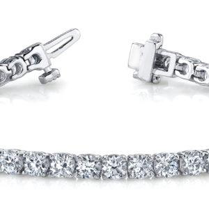 14Kw Interlocking Diamond Tennis Bracelet 3.62 CT TW