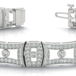 14Kw Interlocking Diamond Bracelet 2.75 CT TW