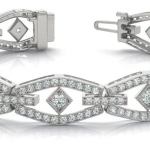 14Kw Interlocking Diamond Bracelet 5.00 CT TW
