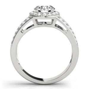 14Kw Halo Engagement Diamond Ring Wedding Set 1.75 CT TW