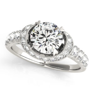 14Kw Halo Engagement Diamond Ring Wedding Ring 1.63 CT TW