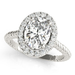 14Kw Halo Engagement Diamond Ring Wedding Ring 1.00 CT TW