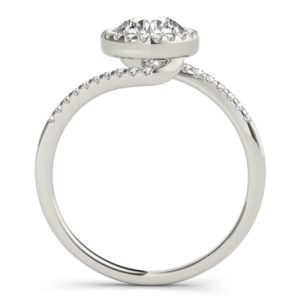 14Kw Halo Engagement Diamond Ring Wedding Ring 0.63 CT TW