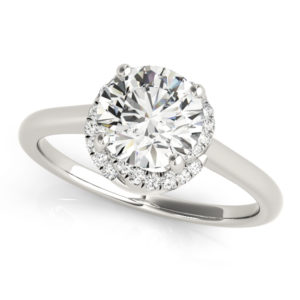 14Kw Halo Engagement Diamond Ring Wedding Ring 1.13 CT TW