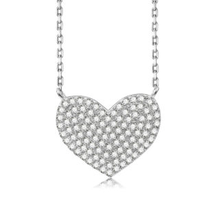 Sterling Silver Abby Heart Necklace