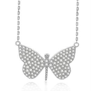 Sterling Silver Jill Butterfly Necklace