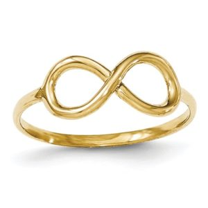 14k Polished Infinity Ring
