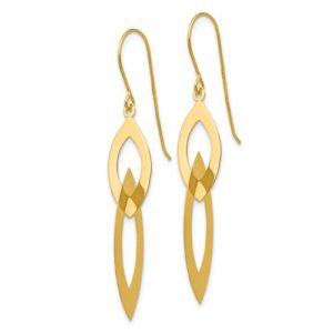 14k Oval Dangle Earrings