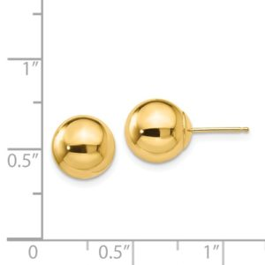 14k Polished 9.0mm Ball Post Earrings