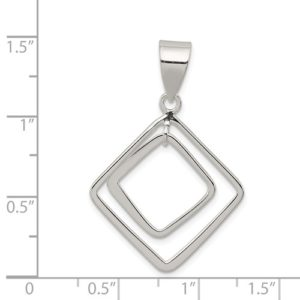 Sterling Silver Diamond Shape Pendant