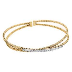 0.25ctw Diamond Bella Cuff Bracelet