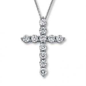 14k 1.10ctw Diamond Cross Pendant