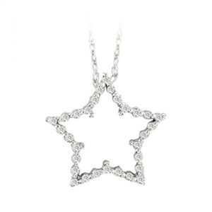 14k Diamond Star Pendant