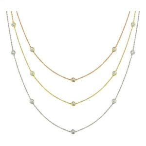 14k .75ctw Diamond By The Yard Necklace